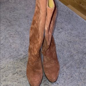 Sezane high boots suede size 36